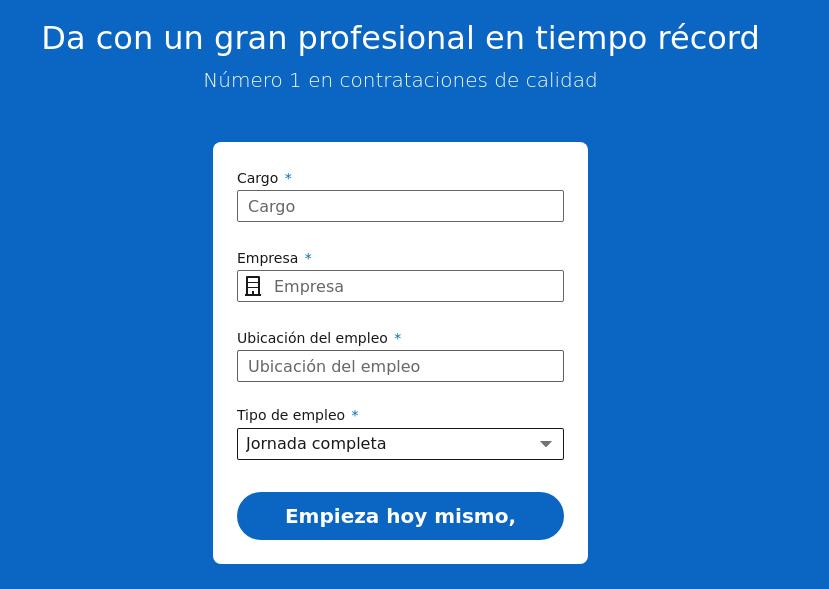 formulario para publicar un anuncio en linkedin